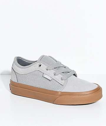 Vans Boys Chukka Low Drizzle & Gum Shoes