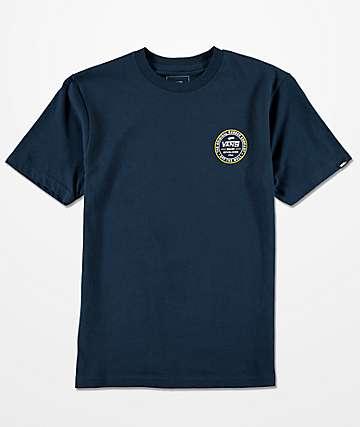Vans Boys Established 66 Navy T-Shirt