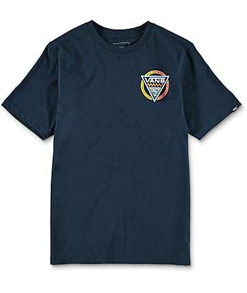 Vans Boys New Old Skool Navy T-Shirt