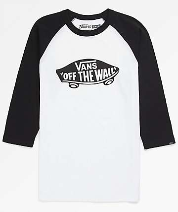 Vans Boys OTW Black & White Raglan T-Shirt