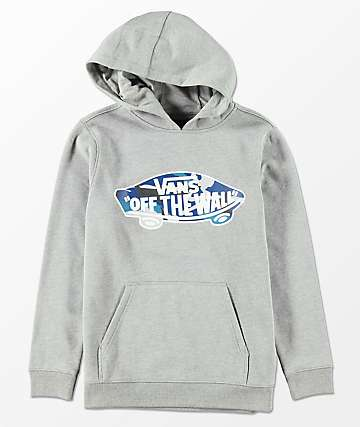 Vans Boys Off The Wall Heather Cement & Camo Hoodie