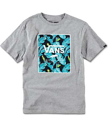 Vans Boys Print Box Heather Grey T-Shirt