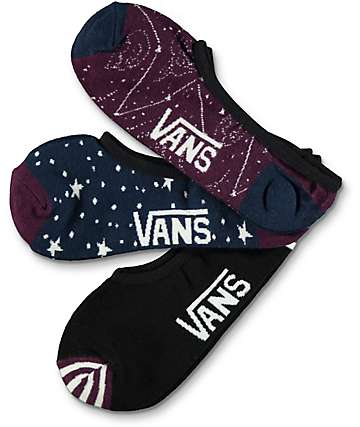 Vans Canoodle Constellation 3 Pack No Show Socks