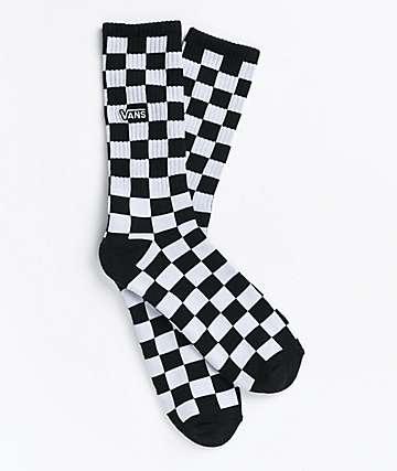 Vans Checkerboard II Black & White Crew Socks