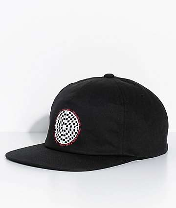 Vans Checkered Shallow Unstructured Black Snapback Hat