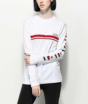 Vans Cherry White & Red Long Sleeve T-Shirt