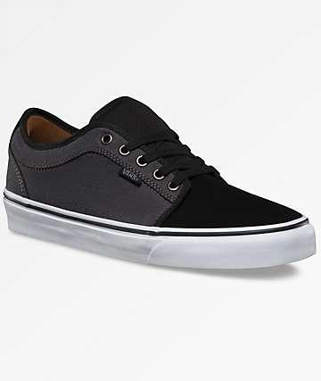 Vans Chukka Low 2 Tone Black & Grey Shoes
