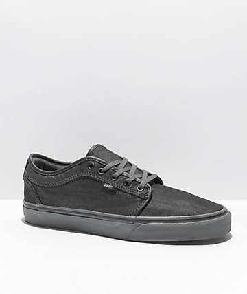 Vans Chukka Low Black Canvas & Pewter Skate Shoes