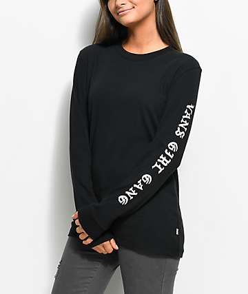 Vans Clan Long Sleeve Black T-Shirt
