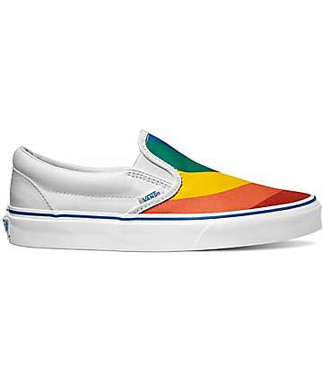 Vans Classic Rainbow Slip-On Shoes