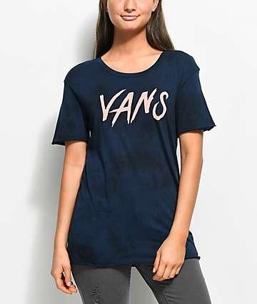 Vans Comic Script Navy T-Shirt