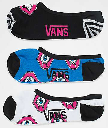 Vans Eye See You Canoodle 3 Pack No Show Socks