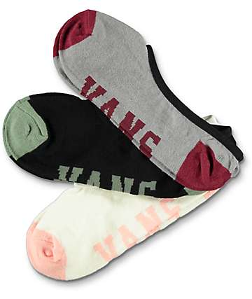 Vans Hall Pass Canoodle 3 Pack Invisible Socks