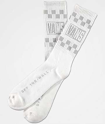 Vans Helmer White Crew Socks