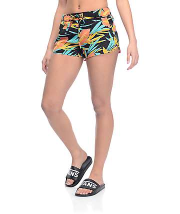 Vans Janek II Black Black Tropical Print Shorts