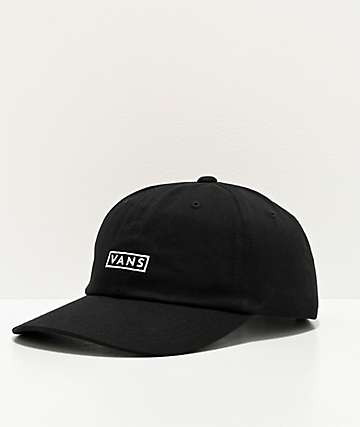 Vans Jockey Curved Bill Black Baseball Hat