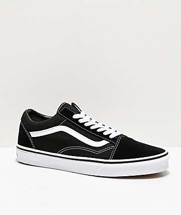 Vans Old Skool Black & White Skate Shoes