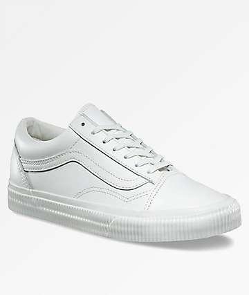Vans Old Skool Embossed Blanc Skate Shoes