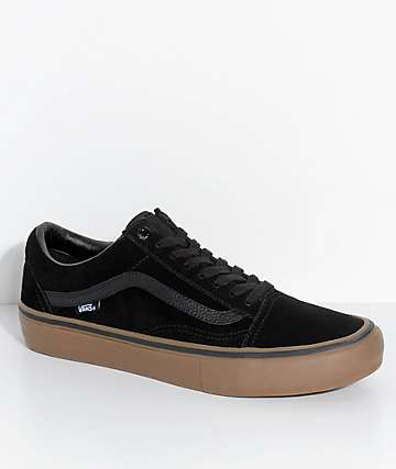 Vans Old Skool Pro Black & Gum Skate Shoes