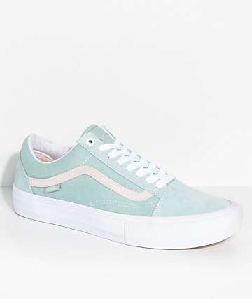 Vans Old Skool Pro Dan Lu Harbor Grey & Pearl Skate Shoes