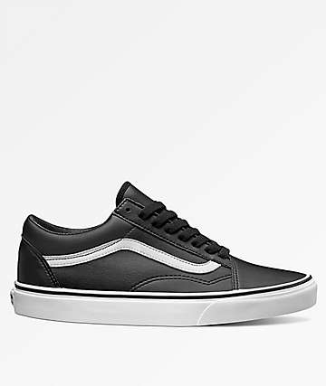 Vans Old Skool Tumble Leather Black & White Shoes