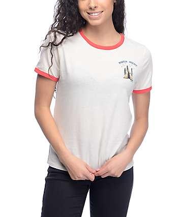 Vans Pizza Night White & Red Ringer T-Shirt