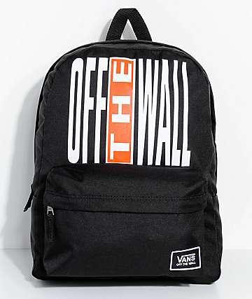 Vans Realm Black & Flame 22L Backpack