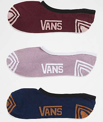 Vans Rock Solid Canoodle 3 Pack Invisible Socks