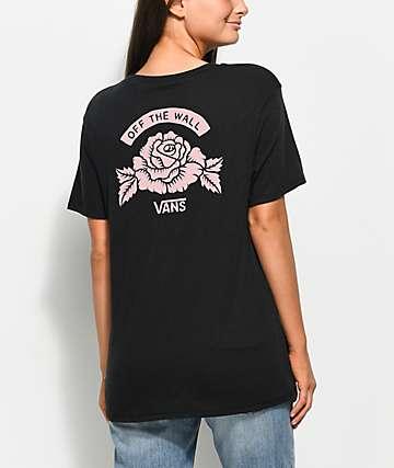 Vans Rose Mark Black T-Shirt