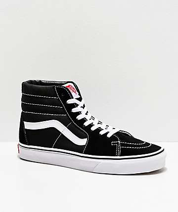 Vans Sk8-Hi Black & White Skate Shoes