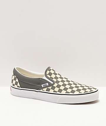 Vans Slip-On Black & Pewter Checkered Skate Shoes