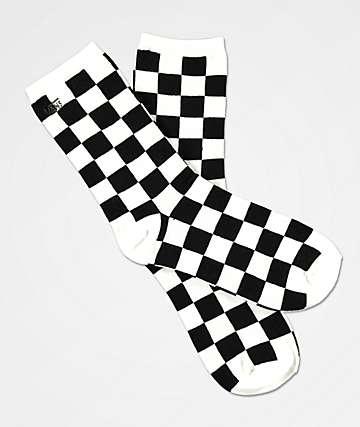 Vans Ticker Black & White Checkered Socks