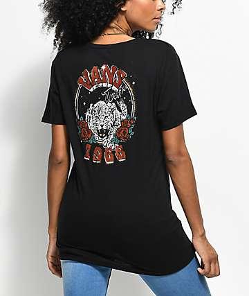 Vans Wild Cat Tours Black T-Shirt