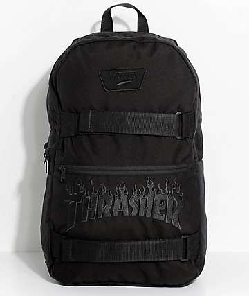Vans X Thrasher Authentic III Black Backpack