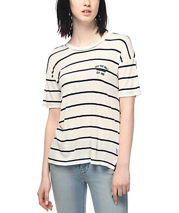 Vans Zeppelin II Black & White Striped T-Shirt