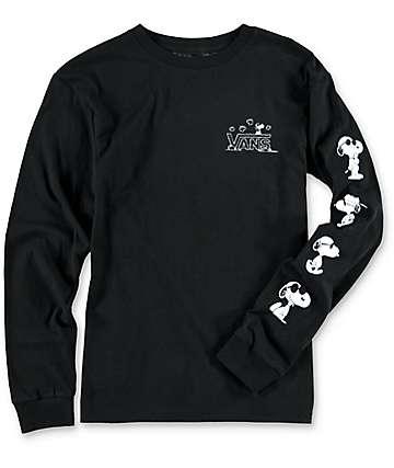 Vans x Peanuts Boys Black Long Sleeve Shirt