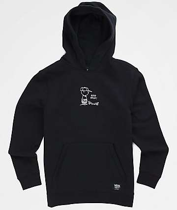 Vans x Peanuts Boys Good Grief Black Hoodie