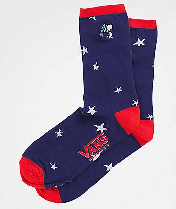 Vans x Peanuts Christmas Ticker Navy Crew Socks