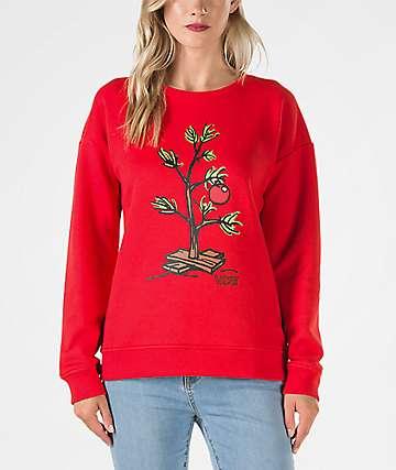 Vans x Peanuts Christmas Tree Red Crew Neck Sweatshirt