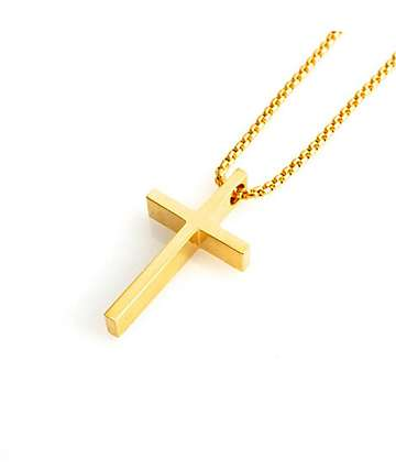 Veritas Cross Gold Necklace
