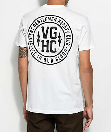 Violent Gentlemen Ice In Your Blood White T-Shirt