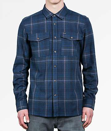 Volcom Bodhi Blue Flannel Shirt