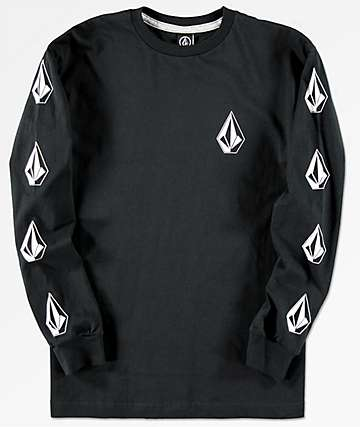 Volcom Boys Deadly Stones Black Long Sleeve T-Shirt