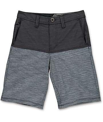Volcom Boys Frickin SNT Block Black Hybrid Shorts