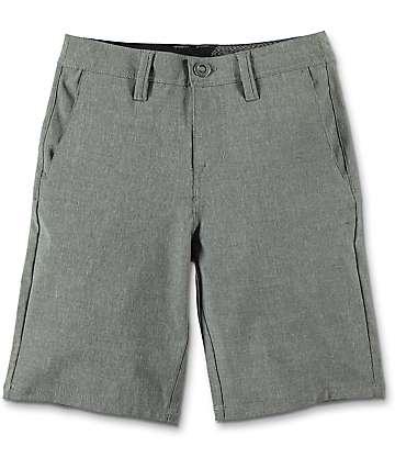 Volcom Boys Frickin SNT Static Stealth Grey Hybrid Shorts