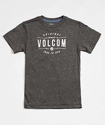 Volcom Boys Garage Club Heather Black T-Shirt