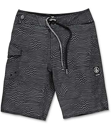 Volcom Boys Magnetic Stone Black Boardshorts
