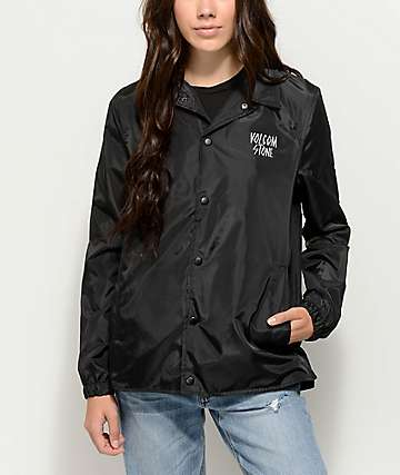 Volcom Brewster Black Coaches Jacket