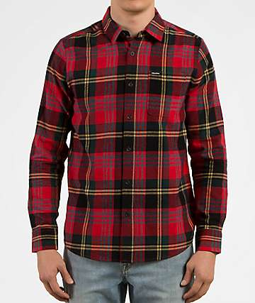 Volcom Caden Red Flannel Shirt