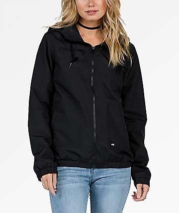 Volcom Enemy Stone Black Windbreaker Jacket
